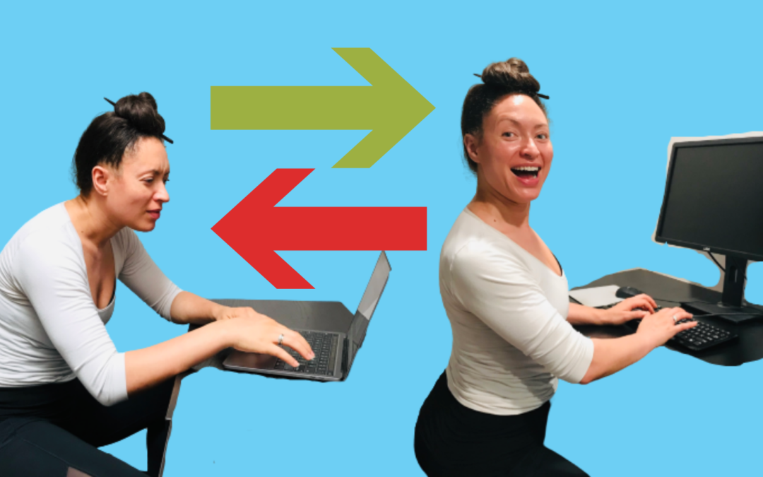 How to set up working from home space to save your back and neck from pain